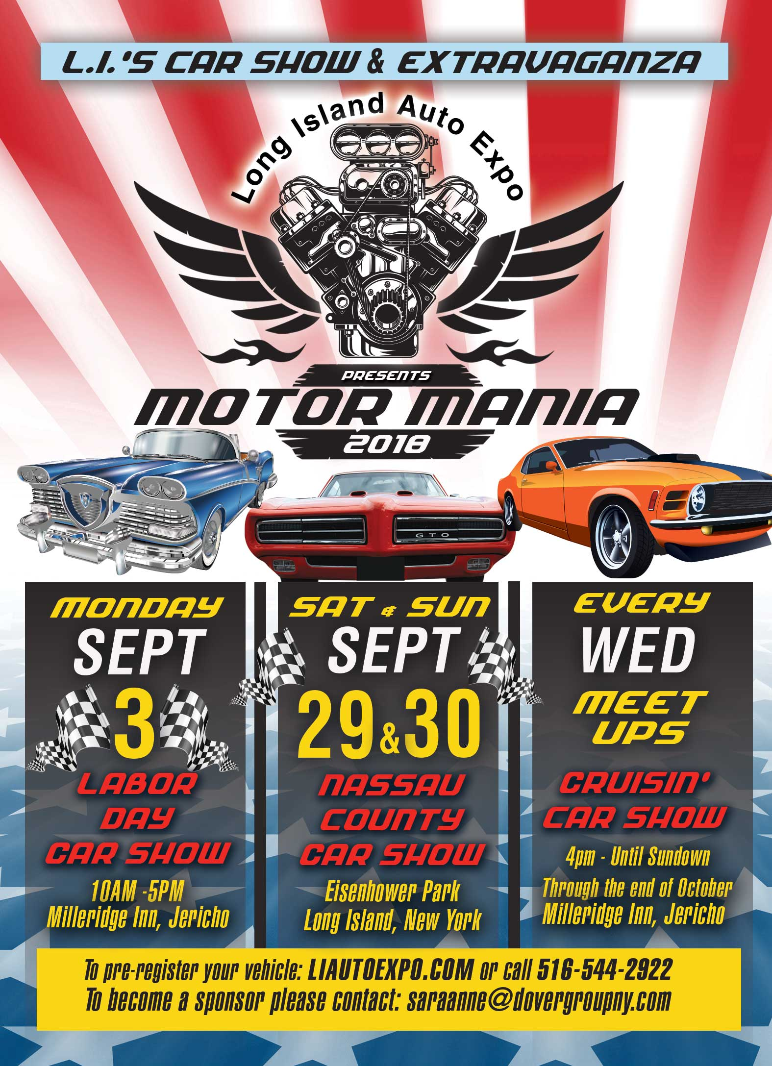 Motor Mania LI Auto Expo The Dover Group - Eisenhower park car show